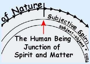 Human Beings combine spirit and matter.